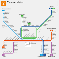 Minneapolis Metro Transit Map by Official Map T Bane Map Of Oslo Norway 2016 Transit Maps