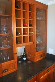 tall display cabinet with clear glass kitchen display ideas