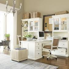 White Desks For Home Office White And Airy Home Office Like The Way The Desks Bump Out So 2