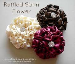 ruffled ribbon ruffled satin flower tutorial the ribbon retreat
