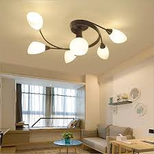 Bedroom Ceiling Lighting Fixtures Joypeach Rustic Style Led Flush Mount Ceiling Lights Creative