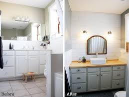 builder grade our finished master bathroom builder grade to beautiful