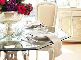 Michael Amini Dining Room Sets After Eight Pearl Octagonal Glass Top Dining Table By Michael