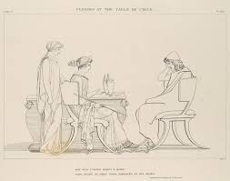 after john flaxman ulysses at the table of circe the odyssey of