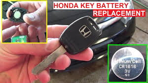 honda accord fob battery how to replace the key fob battery change honda civic accord pilot