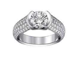 c de cartier solitaire diamond engagement ring plays with
