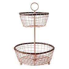 tiered fruit basket copper walnut 2 tiered fruit basket williams sonoma