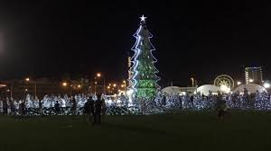 sibu town square christmas trees forest visit sibu year 2017