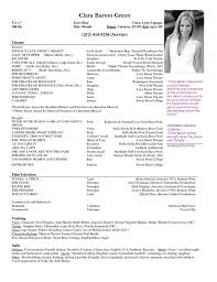 theatrical resume template theatrical resume template best resume collection