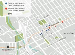 City Of San Jose Zoning Map by Where To Put The Downtown San Jose Bart Station Go West Spur