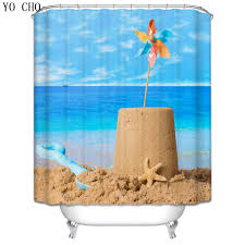 Lighthouse Curtains Bathroom by Christmas Shower Curtain Beach Scenery Lighthouse Bath Curtain