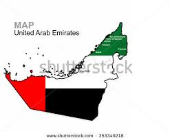 map of the uae united arab emirates map free vector stock