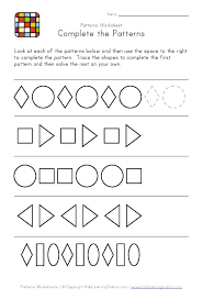 patterns in kindergarten simple patterns for struggling students math