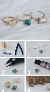 make jewelry rings images Diy jewellery make your own dainty stone set wire ring craft jpg