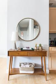 west elm entry table 20 mid century modern living room ideas for your home consoles