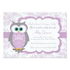 owls baby shower purple gray owl baby shower invitations 730 zazzle