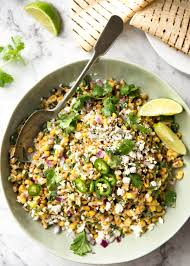 thanksgiving corn side dishes mexican corn salad recipetin eats