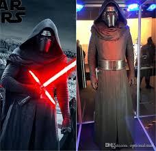 Halloween Costumes Black Men Star Wars 7 Force Awakens Kylo Ren Cosplay Costume