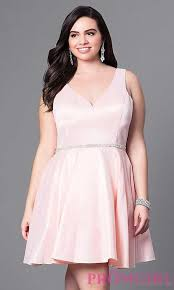 fashion generous style peach faviana v neck long prom dress plus