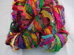 sari silk ribbon sari silk yarn and ribbon