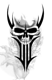 designs for arms tribal tattoos skull quote