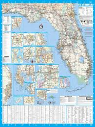 Florida Interstate Map by Amazon Com Florida State Laminated Wall Map Poster 36x48