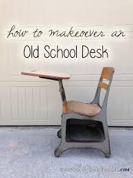 Vintage Kids Desk by School Desk Makeover Spoonful Of Imagination