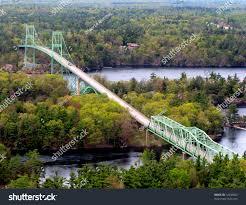 Thousand Islands by Thousand Islands International Bridge Ontario Ivy Stock Photo