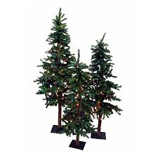 Outdoor Christmas Trees by Shop Christmas Central 3 Piece Alpine Christmas Tree Outdoor