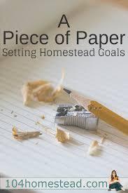goal setting for modern homesteaders