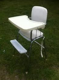 Vintage Cosco High Chair Vintage Cosco Baby High Chair Chrome Frame W Off White Vinyl Paint