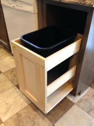 kitchen cabinet trash can pull out pull out garbage can for