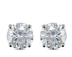 real diamond earrings buy 1 00 cts certified solitaire real diamond earrings online