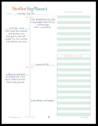 daily planner templates vacation planner printables this is an example of how to use the vacation day planner printable