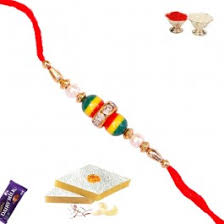 send rakhi within usa send rakhi gifts to usa with pearls and faceted