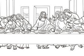 Printable Coloring Page Of The Last Supper 4236 Colordsgn Co Last Supper Coloring Page