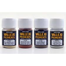 vallejo pigments mud and sand set of 4 colors
