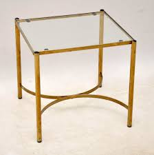 Brass Side Table 1960 S Vintage Brass Coffee Table Side Tables Retrospective