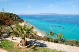 the sea view recreation area of luxury hotel halkidiki greece