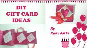 diy gift card ideas birthday greeting card 1 youtube