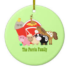cow and pig ornaments keepsake ornaments zazzle