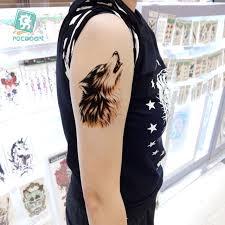 arrival 2017 big horror wolf tiger arm designs