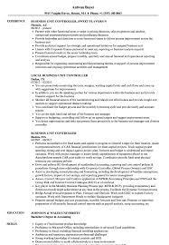 resume of financial controller business unit controller resume samples velvet jobs