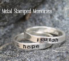 stacking name rings mothers birthstone rings names stacking sted metal