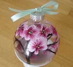 hello i painted and deigned a glass ornament with a