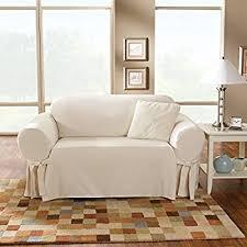 Surefit Sofa Slipcovers by Amazon Com Sure Fit Cotton Duck Sofa Slipcover Natural