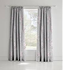 Pink And Grey Curtains Grey Pink Floral 66x72 168x183cm Lined Pencil Pleat Curtains