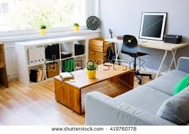 home office interior modern room home office interior room stock photo 419760778