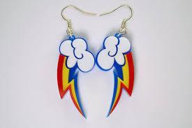 my pony earrings my pony rainbow dash cutie earrings laser cut