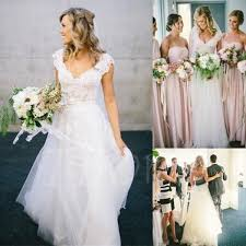 wedding dressing gowns v neck lace tulle cap sleeve a line wedding dress tbdress